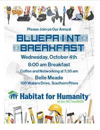 Blueprint Breakfast postcard