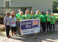 United Way at the build Site