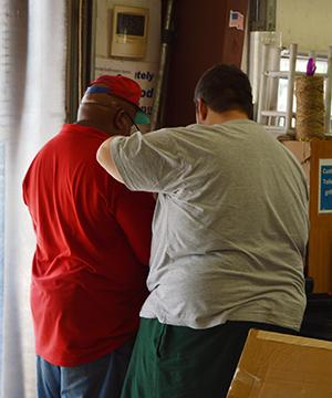 JD and Charles Volunteers at Habitat Restore